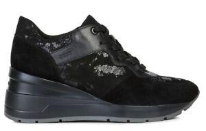 GEOX-RESPIRA-ZOSMA-D828LC-scarpe-donna-sneakers-pelle-camoscio-pelliccia-zeppa