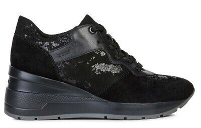 Details about GEOX RESPIRA GENDRY D745TA scarpe donna sneakers alte pelle zeppa borchie zeppa