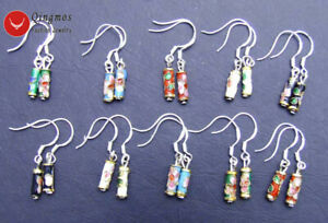 Wholesale-10X-Pairs-Multicolor-Knobble-Cloisonne-Dangle-Earrings-for-Women-Hook