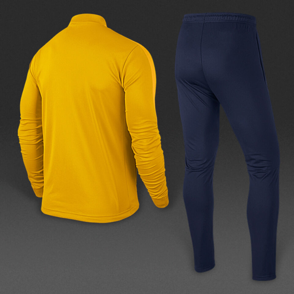 46ef05d006df Nike Mens Kids Full Zip Tracksuit Top Jacket Bottoms SKINNY Slim Fit  Football Small Youth 25 27 Gold navy for sale online