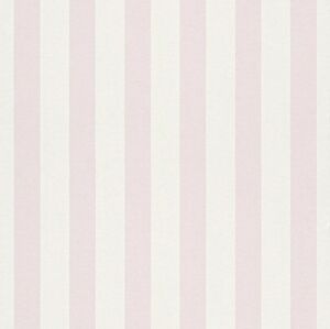 Image Is Loading BAMBINO PALE PINK STRIPE NURSERY CHILDRENS GIRLS FEATURE