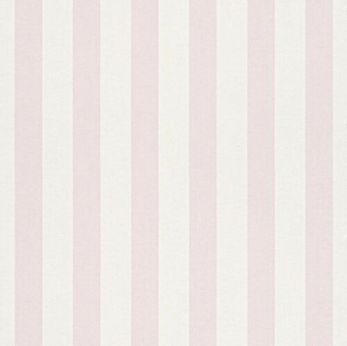 BAMBINO PALE PINK STRIPE NURSERY CHILDRENS GIRLS FEATURE WALLPAPER RASCH 246018
