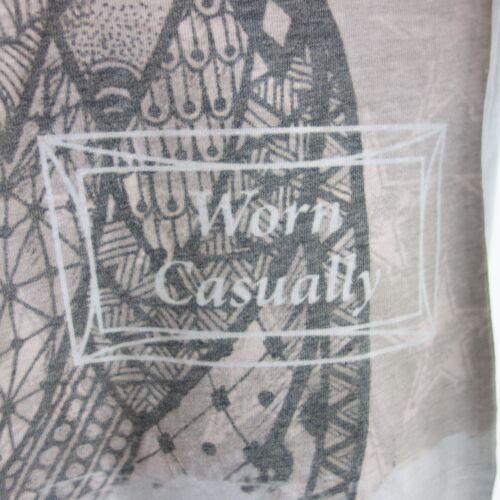 Longues Tee 38 Imprimé Ha1202 Rose M Gris L G 40 Femme shirt Zuzu Manches TwBFHA