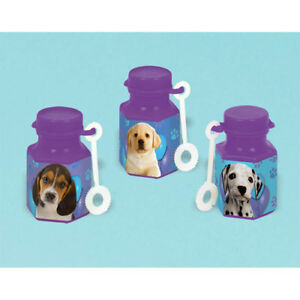 Image Is Loading PUPPY PARTY MINI BUBBLES 12 Birthday Supplies Favors