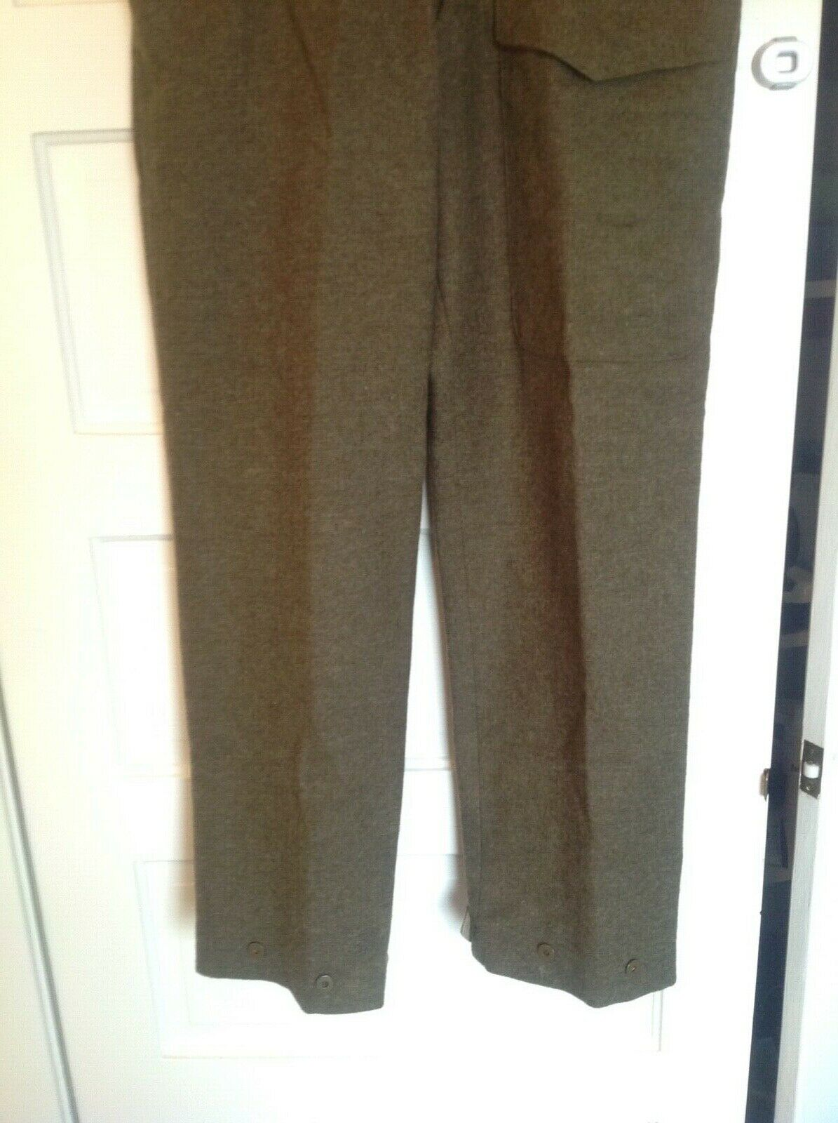 Vintage 1955 Canadian Olive Green Wool Military B… - image 2