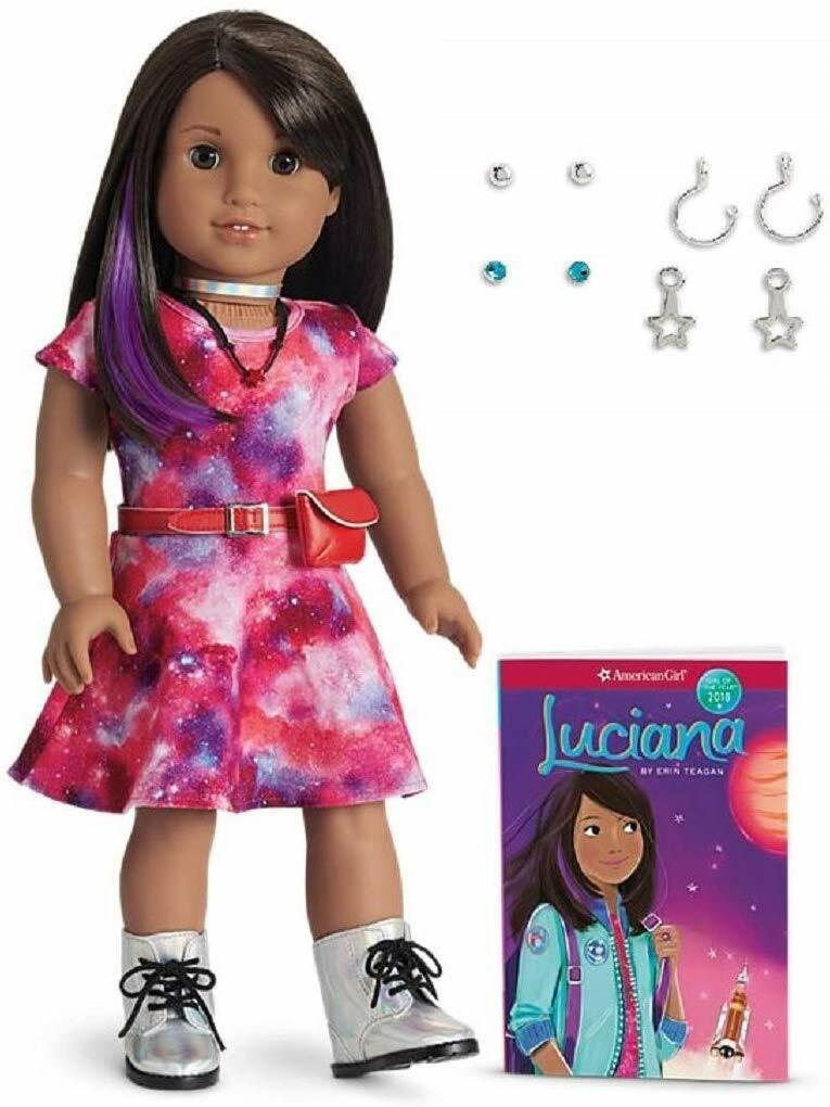 American Girl LUCIANA VEGA DOLL BOOK Girl of the Year Astronaut Pierced ears