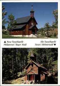 Kirchen-Motiv-Postkarte-Tusset-Kapelle-Kirche-Nachbau-in-Philipsreut-Bayern-AK