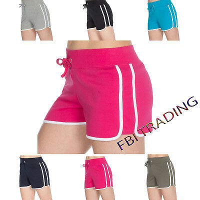 Womens Ladies Shorts Summer Retro Beach Gym Yoga Sports Running Cotton Training