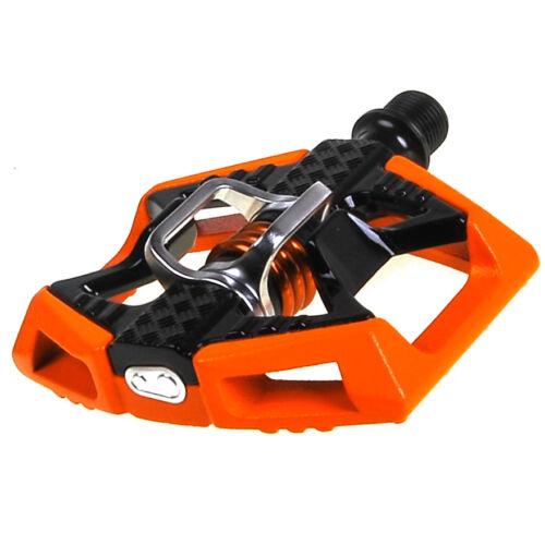 NEW Crank Brothers  Doubleshot Mtb Mountain Bike Pedals Orange Black