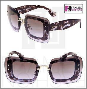 a131c0d93cd7 Image is loading MIU-MIU-REVEAL-Shield-Sunglasses-MU02RS-Transparent-Lilac-