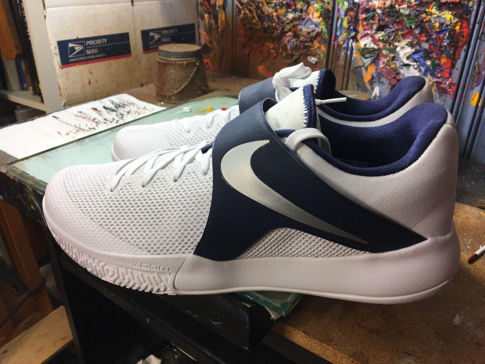 Nike Zoom Live TB Promo White/Metallic Silver NIB Size US 14 Men's 902590 141