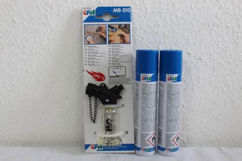 CFH Set mini-BRENNER MB 010 avec 2 x nachfüllgasdose CFH 52103