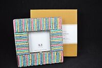 Pottery Barn Beaded Frame Displays Photo Picture Free Standing Overall 6h 15