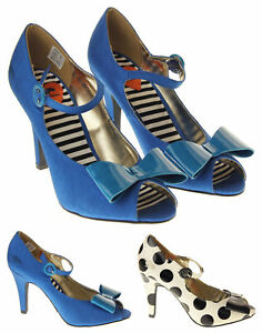 Womens-Rocket-Dog-4-Inch-High-Heel-Shoes-Ladies-Mary-Jane-Peep-Toes-Size-4-5-6-7