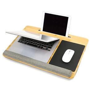 17-Inch Laptop Lap Desk Built in Mouse Pad, Holder Slot & Wrist Pad - Moustache®
