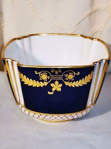 19th Copeland Spode Porcelaine Sucrier Cobalt T GOODE & Co Blue & Or Cannelé #9-afficher le titre d`origine 4Pn8Nush-09162535-479787748