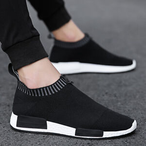 Mens-Sneakers-Trainers-Slip-On-Sock-Walking-Casual-Runners-Comfy-Knit-Gym-Shoes