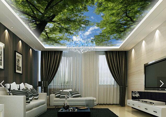 3D Forest 433 Ceiling WallPaper Murals Wall Print Decal Deco AJ WALLPAPER AU