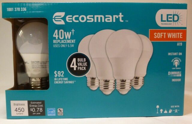 home light n depot b ecosmart cfl pack watt white equivalent bulbs bulb soft compressed the lighting