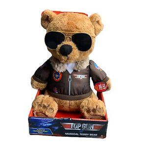 Top Gun Musical Teddy Bear Plays Danger Zone Tom Cruise Full Throttle Flight HOT