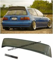 For 92-95 Honda Civic 3dr Bys Style Kevlar Carbon Rear Spoiler Lip W/ Bys Emblem