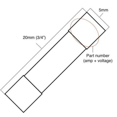 5x T10AL250V T10A 250V 10A 250V T10L250V cartridge GLASS fuses 5X20mm