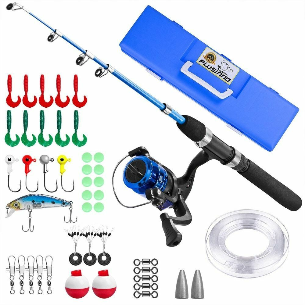 Portable Telescopic Fishing Rod And Reel Combos For Starter Carbon Fish Gear Kit