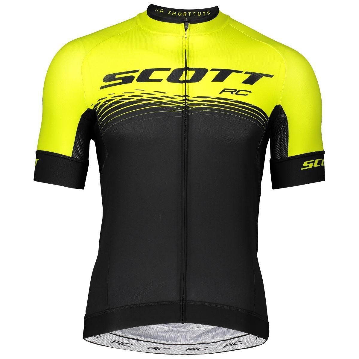 Scott RC Pro Fahrrad Trikot kurz schwarz gelb 2019