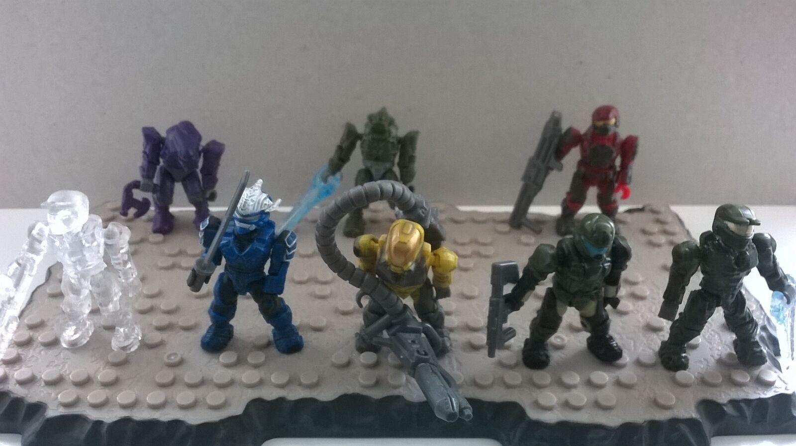 Halo Mega Bloks Serie 1 Figuras Conjunto Completo  RARA  último Set