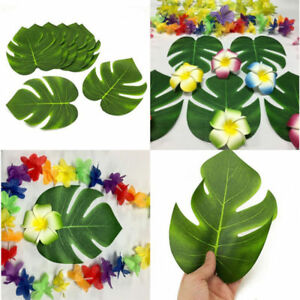 10pcs-Artificial-Tropical-Palm-Leaves-Hawaiian-Simulation-Wedding-Decor