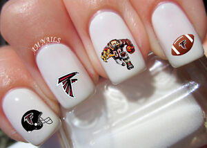 Image Is Loading Atlanta Falcons Nail Art Stickers Transfers Decals Set
