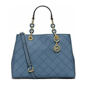 Michael Kors Bag 30F5GCYT2T MK Cynthia Med Quilted Leather Satchel #COD Paypal