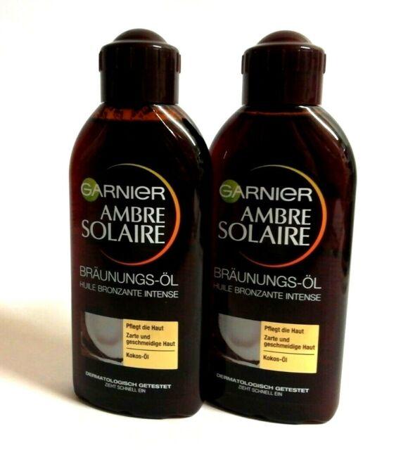 (€2,92/100ml) Garnier Ambre Solaire Bräunungs-Öl 2 x 200 ml