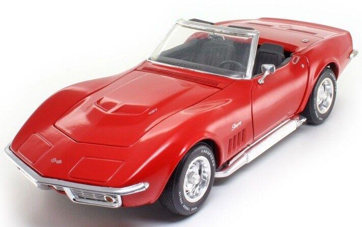 Bil 1970 Corvette Chevrolet Sport Race årgång 1 18 Metal Formula röd 12 f 24