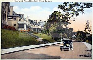 Hamilton, Ontario, Inglewood Avenue, Old Car Vintage Digital Image