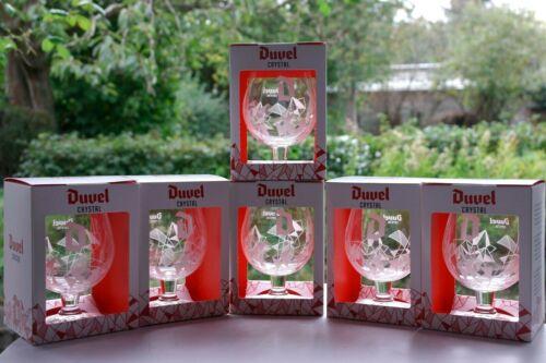 ♦Verre Duvel CRYSTAL BOX Collector Duvel  Duvel glas CRYSTAL in doos WITTE D ♦
