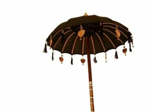 Bali Schirm balinesischer Tempelschirm Handarbeit Garten Terrasse XL 80 cm Ø