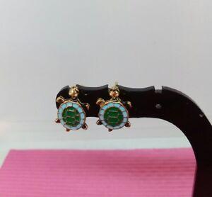 TURTLE-stud-earrings-RETRO-jewellery-ANIMAL-earrings-TURTLE-earrings
