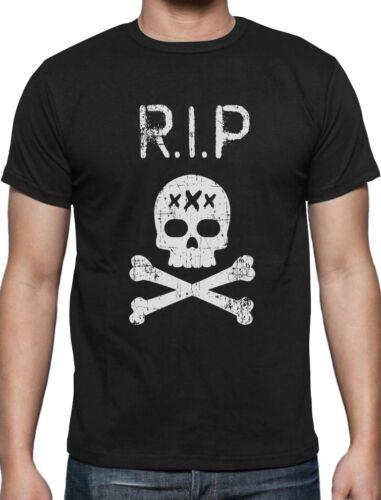 R.I.P XXX Trendy Rap Skull Rapper Sad T-Shirt