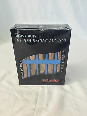 GT JDM HEAVY DUTY STAINLESS STEEL EXTENDED LUG NUTS THREAD 12X1.5 BRONZE