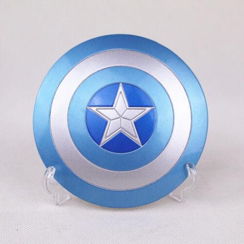 1/6 The Avengers SCUDO DI CAPITAN AMERICA FIBBIA IN METALLO A MANO GIOCATTOLI Blue Hot Toys