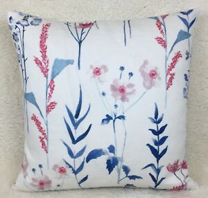 b55829be73a John Lewis Longstock Fabric Cushion Cover Double Sided Handmade Blue ...