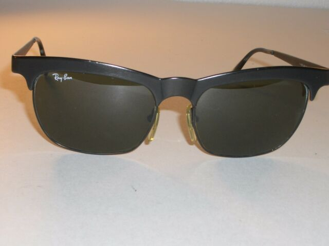 652e77e252c Vintage B l Ray Ban W0757 Black Brushed Frames G15 UV NUEVO Wayfarer  Sunglasses for sale online