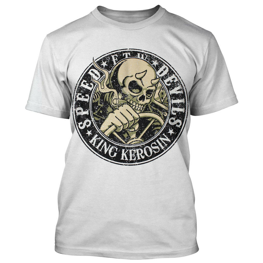 King Kerosin T-Shirt - Speed Devils white