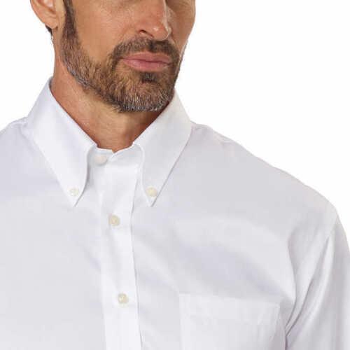 FAST SHIP WHITE Select Size Kirkland Signature Men/'s Button Down Dress Shirt