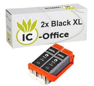 2x-Compatible-with-Canon-Cartridges-Black-PGI-550-BK-MX925-IP7250-MG6350-MX725