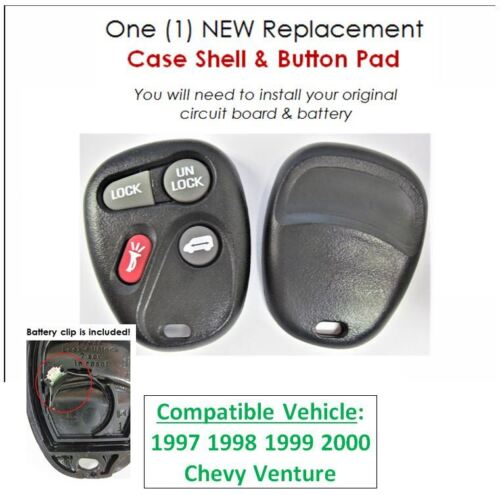 keyless remote 97 98 99 00 for Chevy Venture keyfob phob replacement case