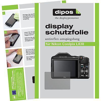 6x dipos Nikon Coolpix L830 matte screen cover Anti Glare Test Winner
