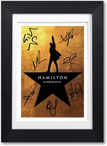 Hamilton An American Musical Movie Cast Signed A4 Poster Decor Poster