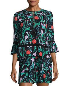 York New Crepe Boho 378 Nwt Floral Romper Spade Jardin 0 Kate wIq4Upn